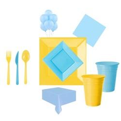 Mavi Sarı Parti Seti Lüx
