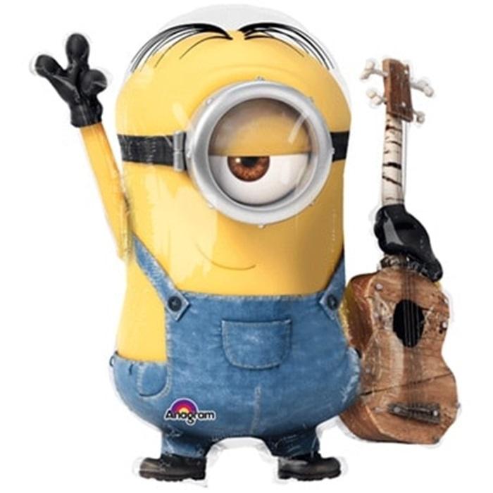 Minion Rush Gitarlı Folyo Balon