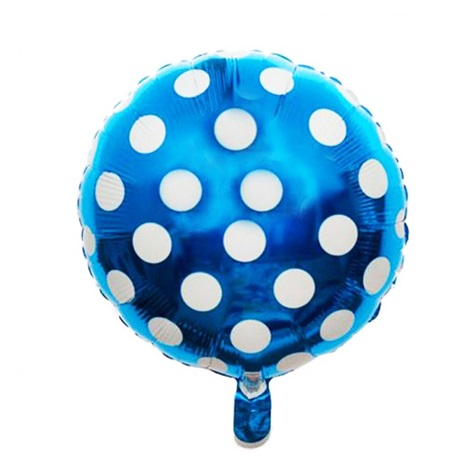 Mavi Puanlı Folyo Balon