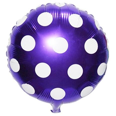 Mor Puanlı Folyo Balon