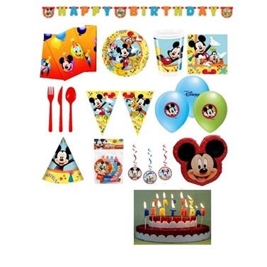 Mickey Mouse Temalı Carnaval Doğum Günü Set 24 Kişilik Lüx