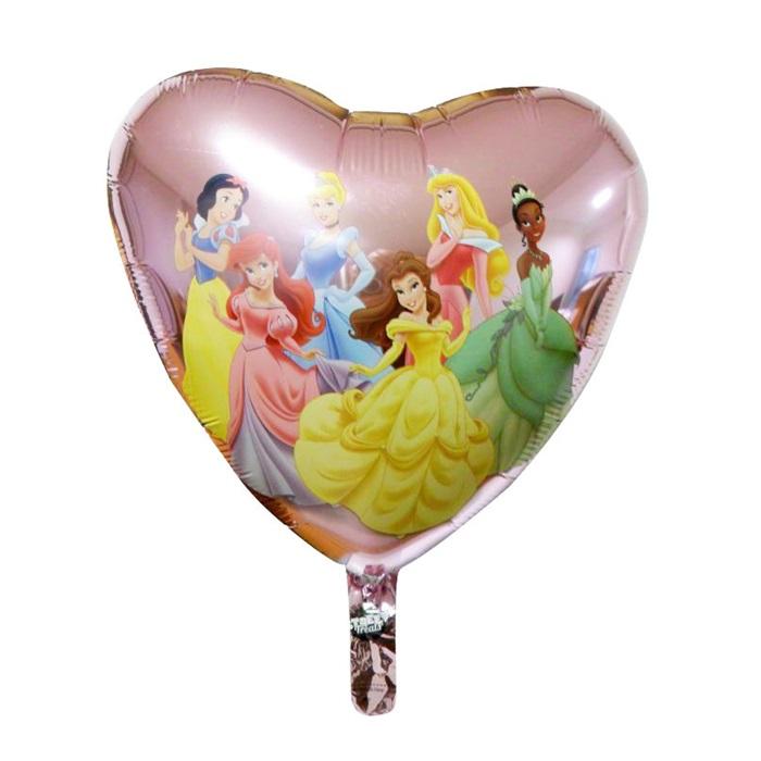Prensesler Temalı Kalp Folyo Balon