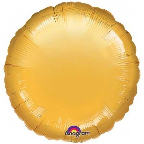 Folyo Balon Yuvarlak Gold