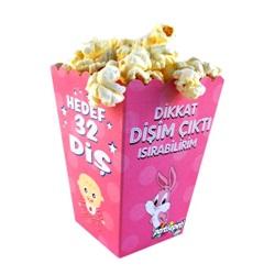 Dikkat Dişim Çıktı Pembe Popcorn Kutusu