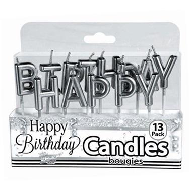 Gümüş Happy Birthday Mum