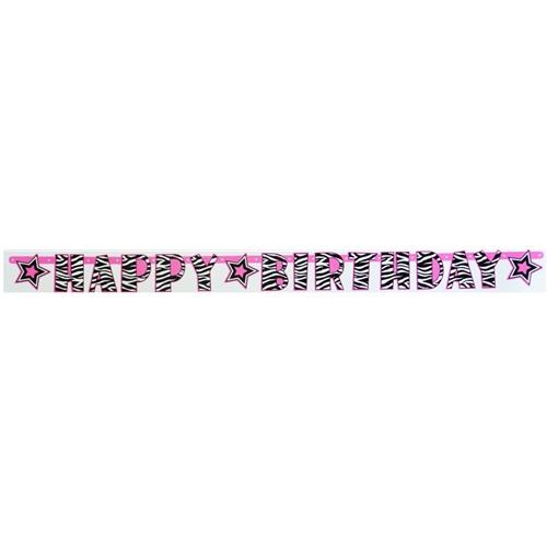 Zebra Happy Birthday Yazı