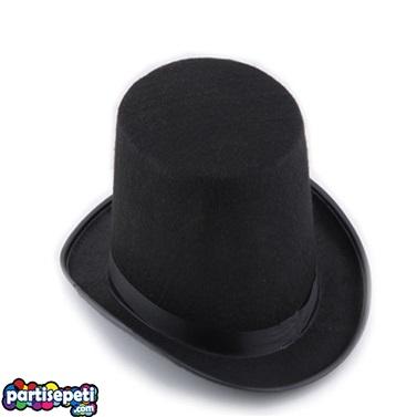 Kumaş Parlement Şapka Siyah