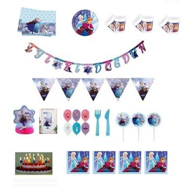 Karlar Ülkesi Doğum Günü Parti Seti 8 Kişilik Lüx