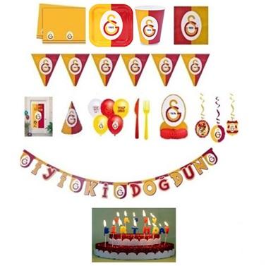Galatasaray Doğum Günü Parti Seti 8 Kişilik Lüx