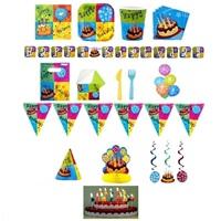 Pastalı Doğum Günü Parti Seti 8 Kişilik Lüx