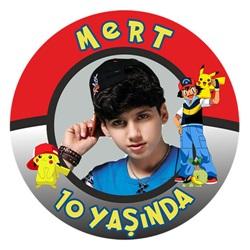 Kişiye Özel Pokemon Sticker