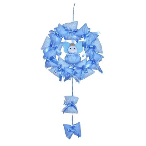 Bebekli Mavi Kapı Süsü