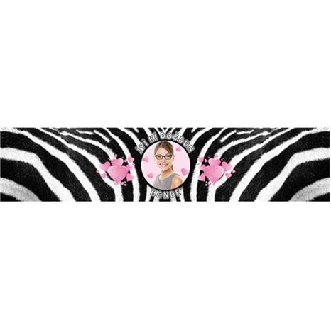 Kişiye Özel Yetişkin Zebra Su Bandı