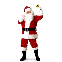 Yılbaşı Noel Baba Kostüm  lüx