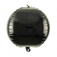 Folyo Balon  Küre Siyah
