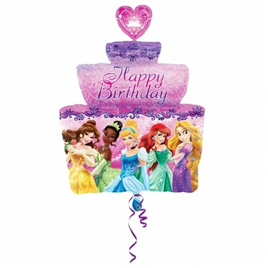 Pastalı Prensesler Temalı Folyo Balon