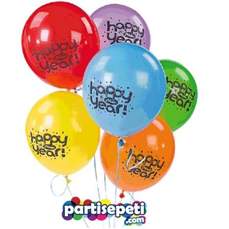 Yılbaşı Yeni Yıl Balonu Karışık Renklerde