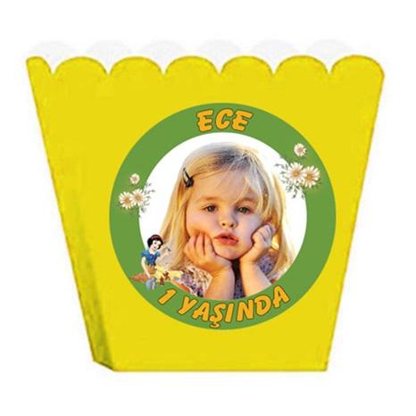 Kişiye Özel Pamuk Prenses Temalı Popcorn Kutusu