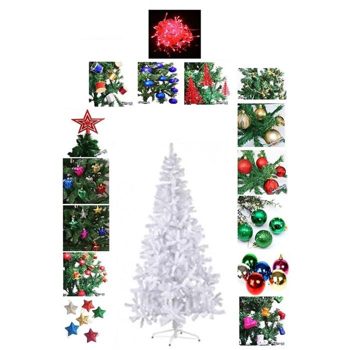 Yılbaşı Ağacı Beyaz  135 Parça