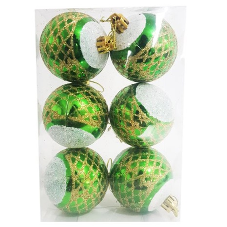 Yılbaşı Ağacı Yeşil Top Süs