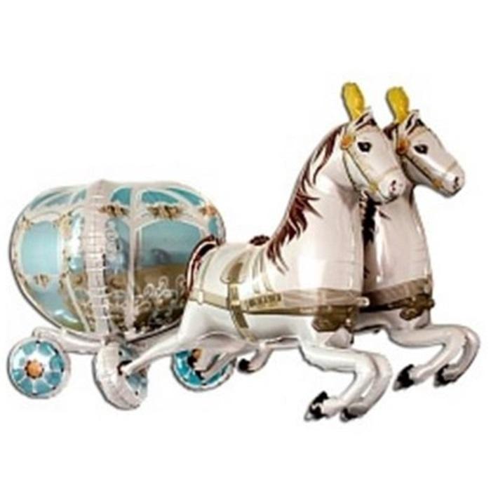 Atlı Gelin Arabası Folyo Balon