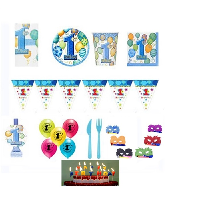 1 Yaş Temalı Erkek Balonlu Parti Seti
