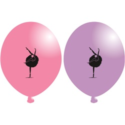 Balerin Temalı Latex Balon
