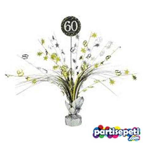 60 Yaş Temalı Gümüş Parti Masa Süsü