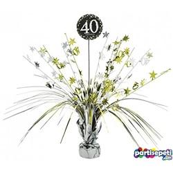 40 Yaş Temalı Gümüş Parti Masa Süsü