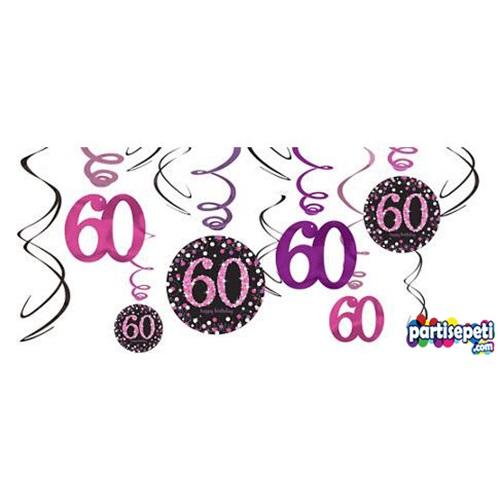 60 Yaş Temalı Parlak İp Süs
