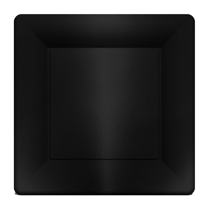 Siyah Kare Karton Servis Tabak