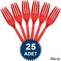 Kırmızı Çatal 25 Ad
