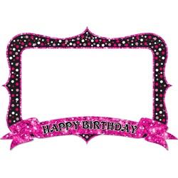 Happy Birthday Pembe Hatıra Çerçevesi