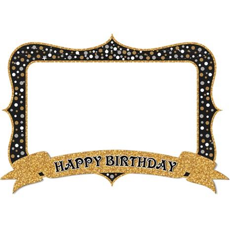 Happy Birthday Gold Hatıra Çerçevesi