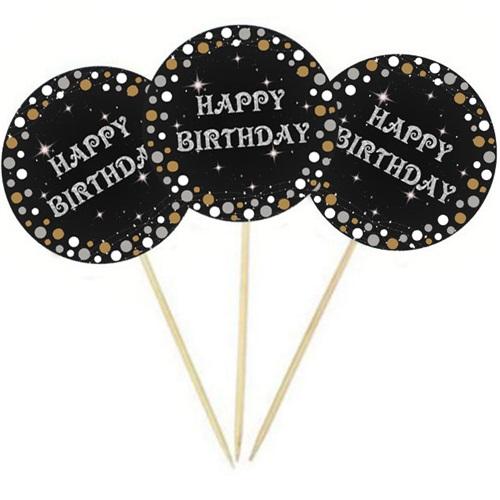 Happy Birthday Gold Kürdan Süs