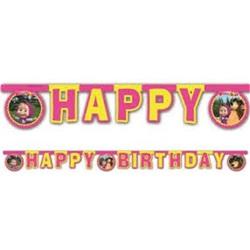 Masha Koca Ayı Happy Birthday Yazı