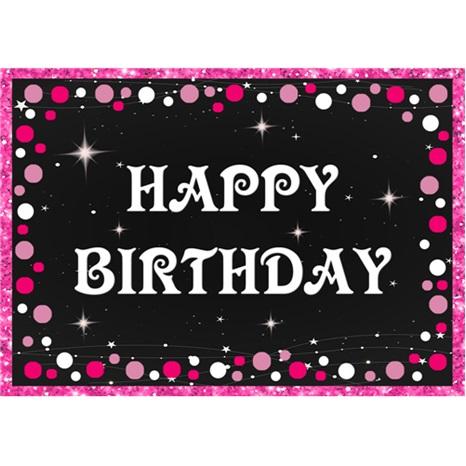 Happy Birthday Pembe Amerikan Servisi