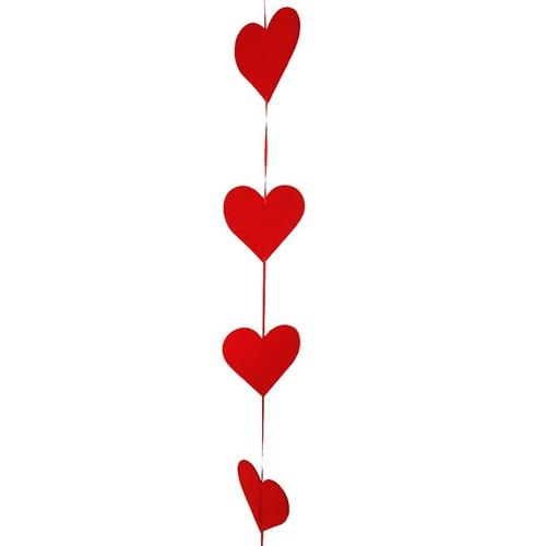 Sevgililer Günü Asma Kalp Süs