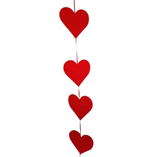 Sevgililer Günü Kalp Asma Süs