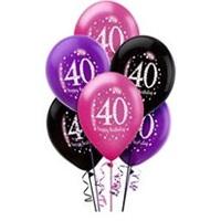 40 Yaş Temalı Pembe Konsept Balon