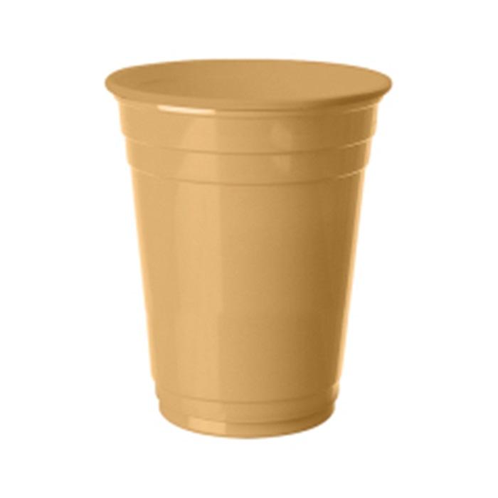 Gold Plastik Bardak 8 Ad