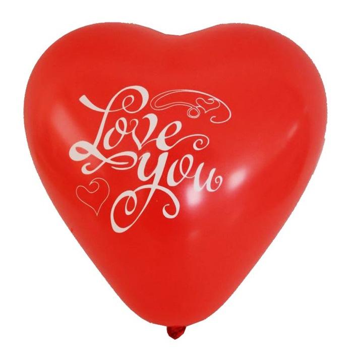 Kalp Desenli Love You Latex Balon 100 Ad