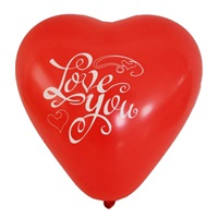 Kalp Desenli Love You Latex Balon 100 Ad