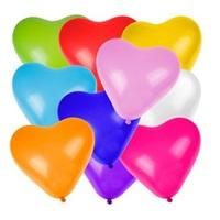 Renkli Kalpli Latex Balon