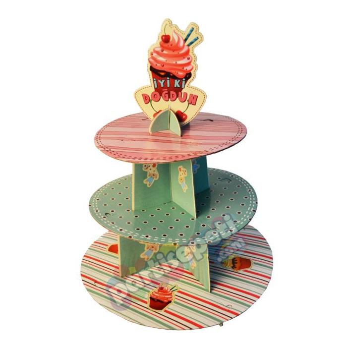 Çilekli Cupcake Standı