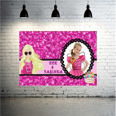 Kişiye Özel Barbie Temalı Afiş