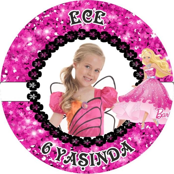 Kişiye Özel Barbie Temalı Sticker