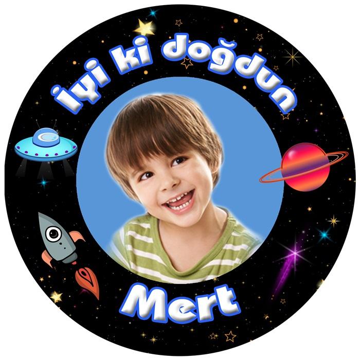 Kişiye Özel Uzay Temalı Sticker