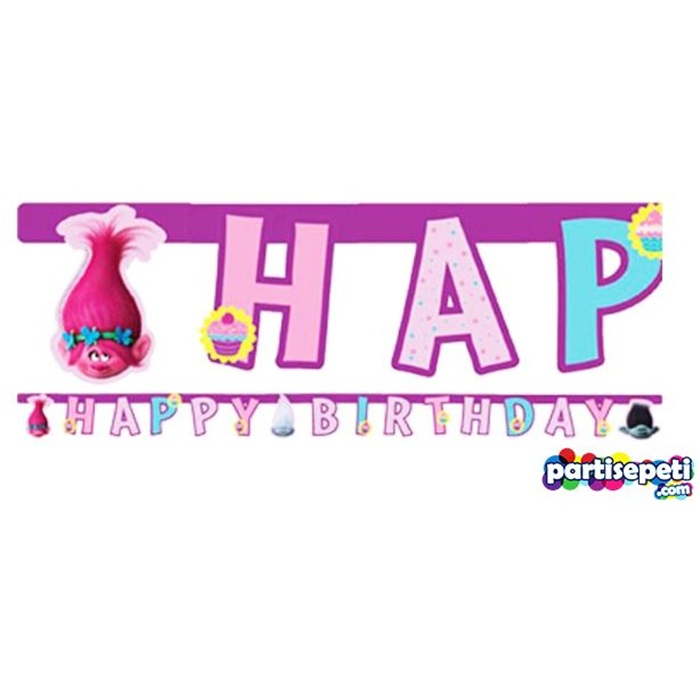 Troller Happy Birthday Yazı
