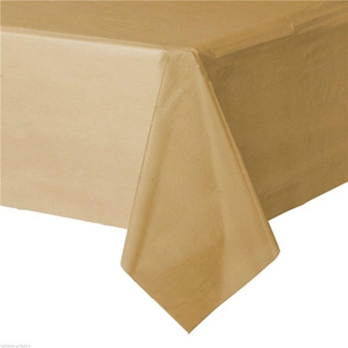 Lüks Altın Plastik Masa Örtüsü